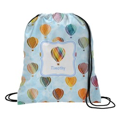 Watercolor Hot Air Balloons Drawstring Backpack (Personalized)