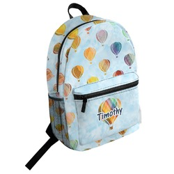 Watercolor Hot Air Balloons Student Backpack (Personalized)
