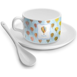 Watercolor Hot Air Balloons Tea Cup - Single (Personalized)