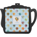 Watercolor Hot Air Balloons Teapot Trivet (Personalized)