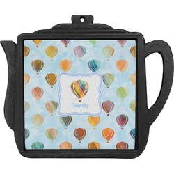 Watercolor Hot Air Balloons Teapot Trivet (Personalized)
