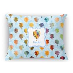 "Watercolor Hot Air Balloons Rectangular Throw Pillow - 18""x24"" (Personalized)"