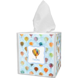 Watercolor Hot Air Balloons Tissue Box Cover (Personalized)