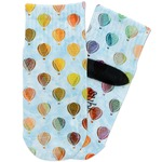 Watercolor Hot Air Balloons Toddler Ankle Socks (Personalized)