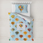 Watercolor Hot Air Balloons Toddler Bedding w/ Name or Text
