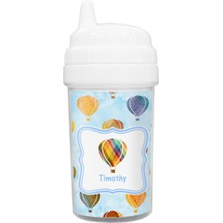 Watercolor Hot Air Balloons Toddler Sippy Cup (Personalized)
