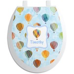 Watercolor Hot Air Balloons Toilet Seat Decal (Personalized)