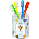 Watercolor Hot Air Balloons Toothbrush Holder (Personalized)