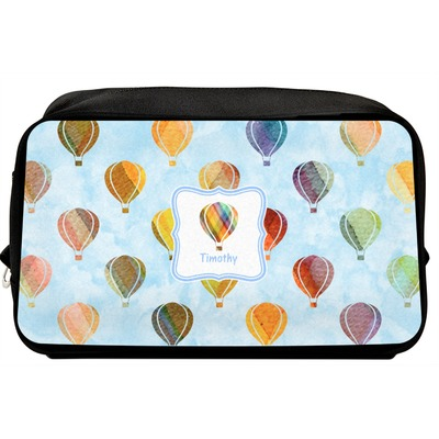 Watercolor Hot Air Balloons Toiletry Bag / Dopp Kit (Personalized)