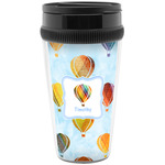 Watercolor Hot Air Balloons Travel Mugs (Personalized)