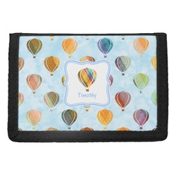Watercolor Hot Air Balloons Trifold Wallet (Personalized)