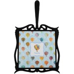 Watercolor Hot Air Balloons Trivet with Handle (Personalized)
