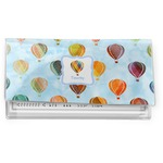 Watercolor Hot Air Balloons Vinyl Checkbook Cover (Personalized)