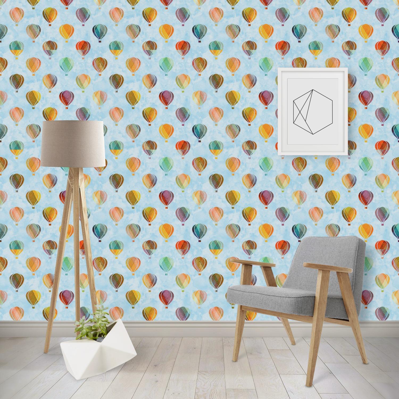 6022403f22c99 Watercolor Hot Air Balloons Wallpaper & Surface Covering