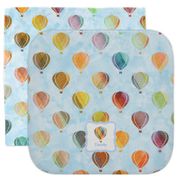 Watercolor Hot Air Balloons Facecloth / Wash Cloth (Personalized)