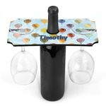 Watercolor Hot Air Balloons Wine Bottle & Glass Holder (Personalized)