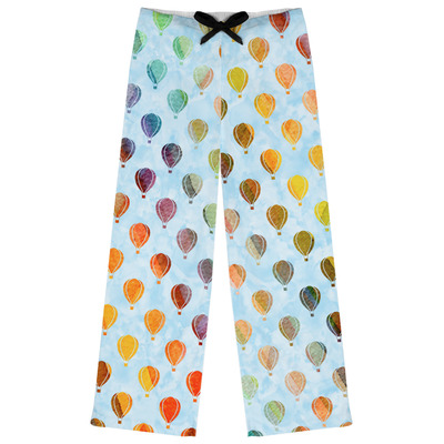 Watercolor Hot Air Balloons Womens Pajama Pants (Personalized)