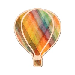 Watercolor Hot Air Balloons Genuine Maple or Cherry Wood Sticker (Personalized)