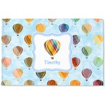 Watercolor Hot Air Balloons Woven Mat (Personalized)