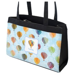 Watercolor Hot Air Balloons Zippered Everyday Tote (Personalized)