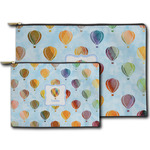 Watercolor Hot Air Balloons Zipper Pouch (Personalized)