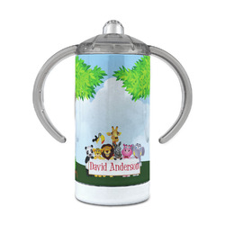 Animals 12 oz Stainless Steel Sippy Cup (Personalized)