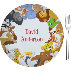 "Animals 8"" Glass Appetizer / Dessert Plates - Single or Set (Personalized)"