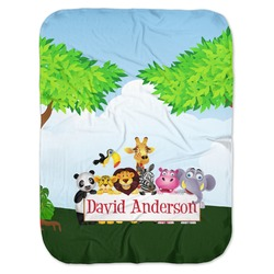 Animals Baby Swaddling Blanket (Personalized)