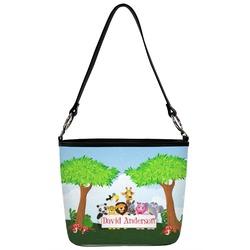 Animals Bucket Bag w/ Genuine Leather Trim (Personalized)