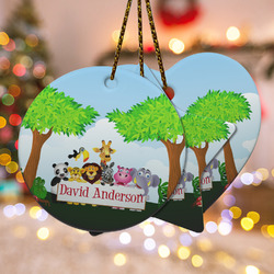 Animals Ceramic Ornament w/ Name or Text