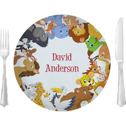"Animals 10"" Glass Lunch / Dinner Plates - Single or Set (Personalized)"