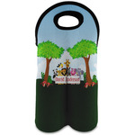 Animals Wine Tote Bag (2 Bottles) w/ Name or Text