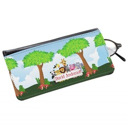 Animals Genuine Leather Eyeglass Case (Personalized)