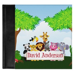 Animals Genuine Leather Baby Memory Book (Personalized)