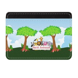 Animals Genuine Leather Front Pocket Wallet (Personalized)