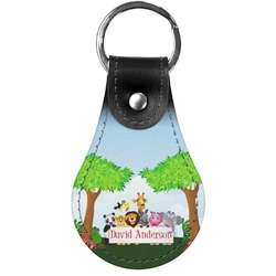 Animals Genuine Leather  Keychains (Personalized)