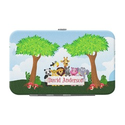 Animals Genuine Leather Small Framed Wallet (Personalized)