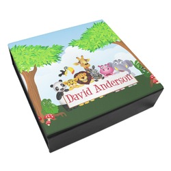 Animals Leatherette Keepsake Box - 3 Sizes (Personalized)