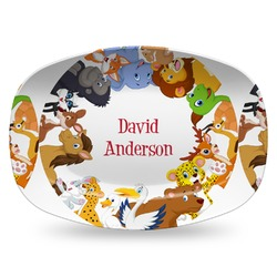 Animals Plastic Platter - Microwave & Oven Safe Composite Polymer (Personalized)