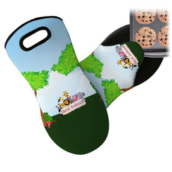 Animals Neoprene Oven Mitts w/ Name or Text
