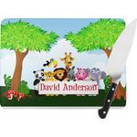 Animals Rectangular Glass Cutting Board (Personalized)