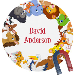 Animals Round Magnet (Personalized)