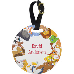 Animals Round Luggage Tag (Personalized)
