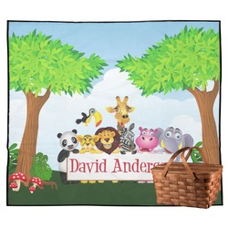 Animals Outdoor Picnic Blanket (Personalized)