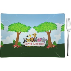 Animals Glass Rectangular Appetizer / Dessert Plate - Single or Set (Personalized)