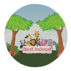 Animals Round Linen Placemat (Personalized)