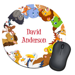 Animals Round Mouse Pad (Personalized)