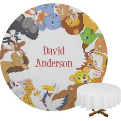 Animals Round Tablecloth (Personalized)