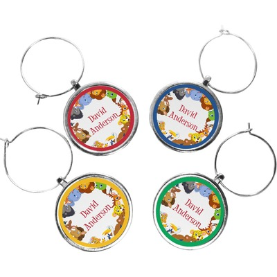 Animals Wine Charms (Set of 4) (Personalized)