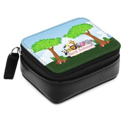 Animals Small Leatherette Travel Pill Case (Personalized)